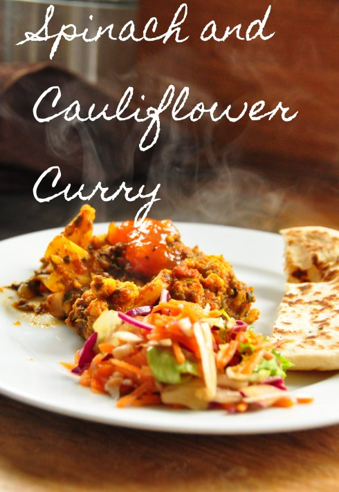 Spinach and Cauliflower Curry